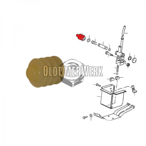 251711176 Anschlagplatte für 4-Gang  Schalthebel T3 OE Ref