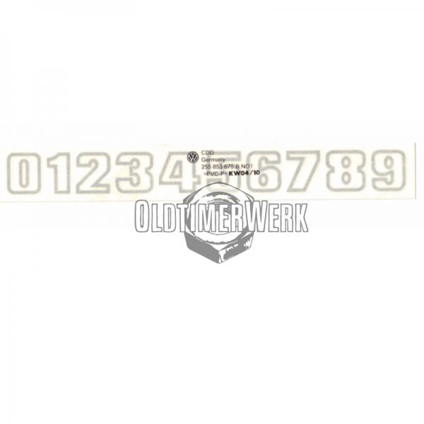 Folienschriftzug Limited Last Edition für Heckklappe T3 OE Ref 255853689S CHY